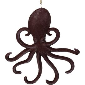 Octopus Wall Decor in Rustic Red