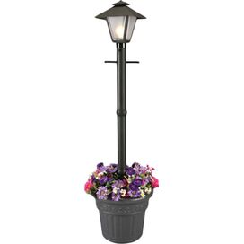 Vineyard Post Lantern & Planter in Black