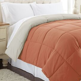 Sawyer Reversible Comforter in Orange & Oatmeal