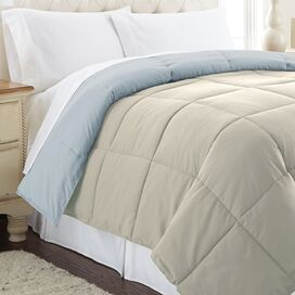 Reversible Down Alternative Comforter in Oatmeal