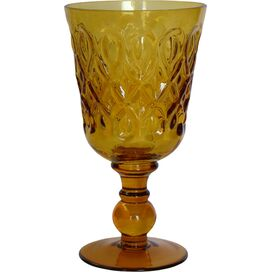 Teardrop Goblet in Amber (Set of 8)