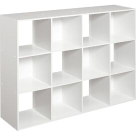 12-Cubby Organizer in White