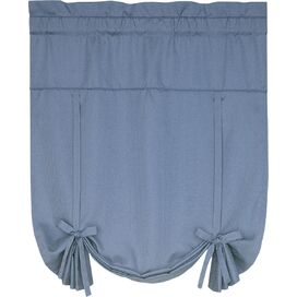 Tie-Up Rod Pocket Shade in Blue