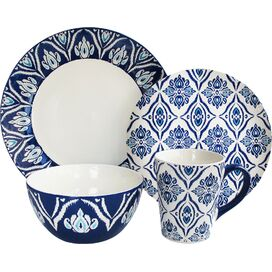 16-Piece Ikat Dinnerware Set