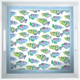 Fish School Melamine Tray (Set of 2)