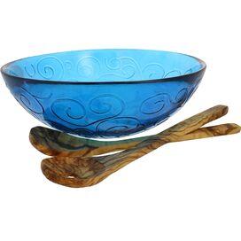 3-Piece Sydney Serving Bowl Set in Cornflower Blue
