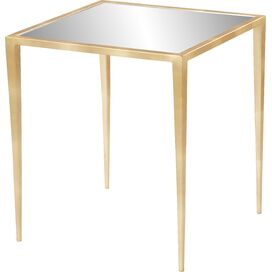 "Kassandra 20"" Mirrored Side Table in Gold"