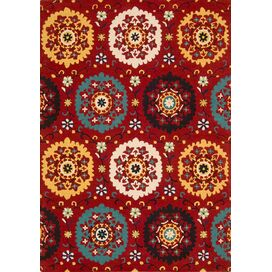 Addison Rug in Red