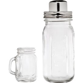 5-Piece Mason Jar Cocktail Shaker & Shooter Set