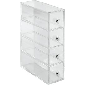 4-Drawer Plastic Storage Tower