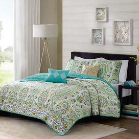 Tasia Embroidered Coverlet Set