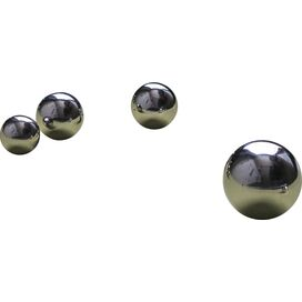 Stainless Steel Orb Indoor/Outdoor Wall Decor (Set of 10)
