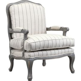 Spencer Arm Chair in Distressed Gray