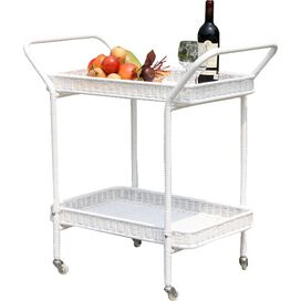 Dale Patio Serving Cart in White