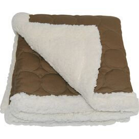 Elmo Water-Repellent Throw in Brown