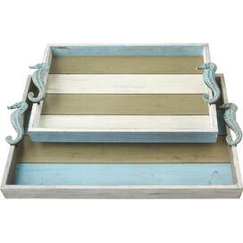 2-Piece Seahorse Tray Set