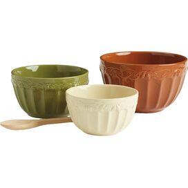 3-Piece Acorn Mixing Bowl Set