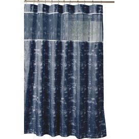 Ella Shower Curtain in Navy Blue