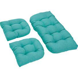 3-Piece Indoor/Outdoor Cushion Set in Aqua Blue