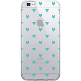 Dotty Hearts iPhone 6 Case in Turquoise