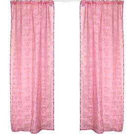 Burnout Damask Rod Pocket Curtain Panel