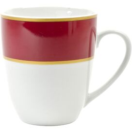 Zola Porcelain Mug in Ruby (Set of 4)