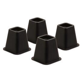 Bed Riser in Black (Set of 4)