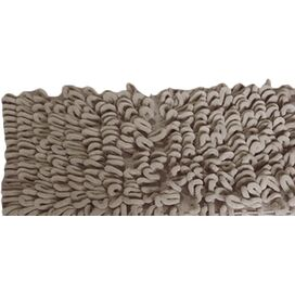 Loop Chenille Bath Rug in Beige (Set of 2)