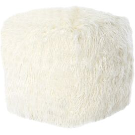 Vanessa Pouf in Ivory