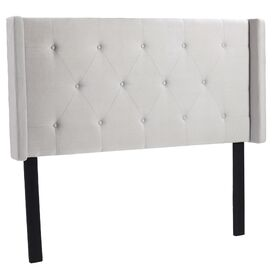 Cassie Upholstered Queen Headboard in Light Grey