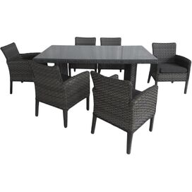 7-Piece Avery Patio Dining Set in Gray