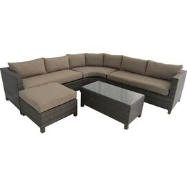 Barcelona Sectional Sofa & Ottoman in Beige