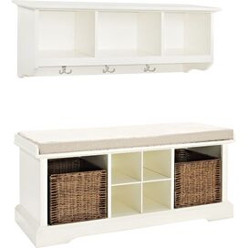 2-Piece Bailey Shelf & Bench Set