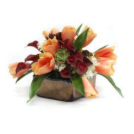 Faux Peach Tulips