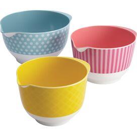 Cake Boss 3-Piece Melamine Mixing Bowl Set