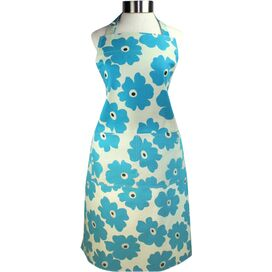 Floral Apron in Blue Poppy