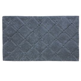 Trellis Bath Rug in Flint Stone