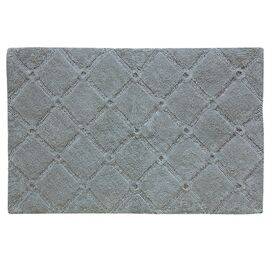 Trellis Bath Rug in Neutral Gray