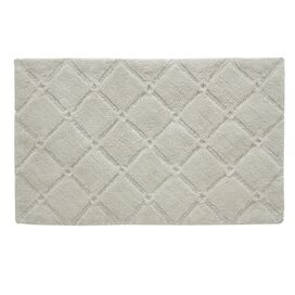 Trellis Bath Rug in Oyster Gray
