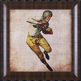 Vintage Football Player Framed Print II