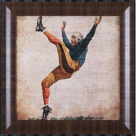 Vintage Football Player Framed Print I