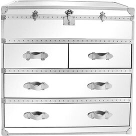 Riley Mirrored Dresser in White