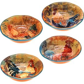 Rustic Rooster Soup Bowl (Set of 4)
