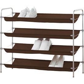 16-Pair Shelf Shoe Organizer