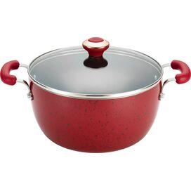 Nonstick 5.5-Quart Soup Pot in Red