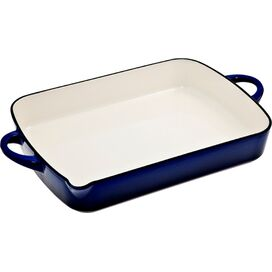 Denby Baking Dish with Pouring Edge in Imperial Blue