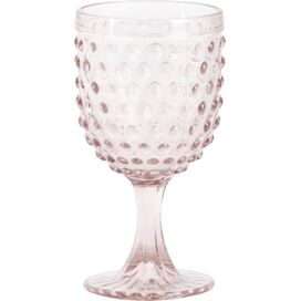 Hobnail Wine Glass in Pink (Set of 6)