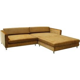 Dom Right-Facing Velvet Sectional Sofa
