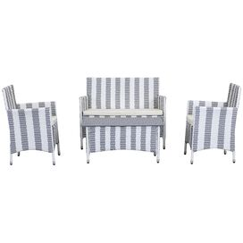 4-Piece Frazier Patio Seating Group in Grey