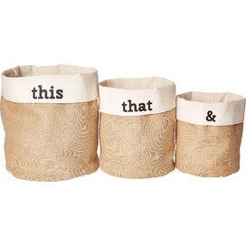 3-Piece This & That Storage Bin Set